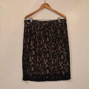 Lace not zipper elegant skirt